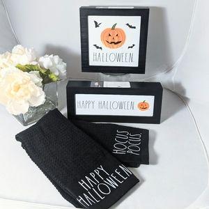Rae Dunn Happy Halloween Signs Hocus Pocus Towels